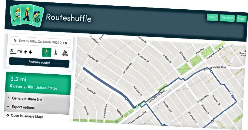 Pešia trasa s Routeshuffle