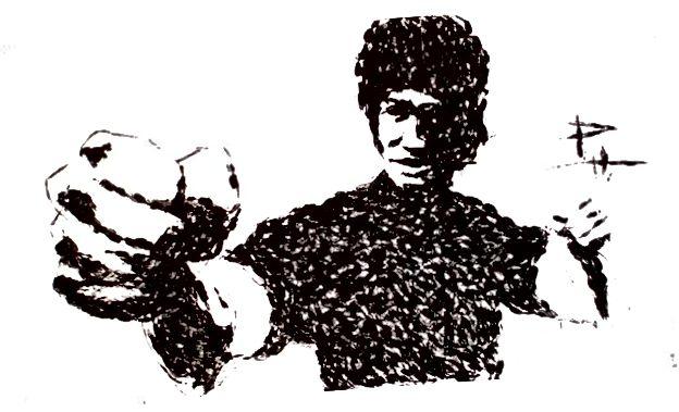 Bruce Lee - Karate gehackte Farbe - © Phil Hansen