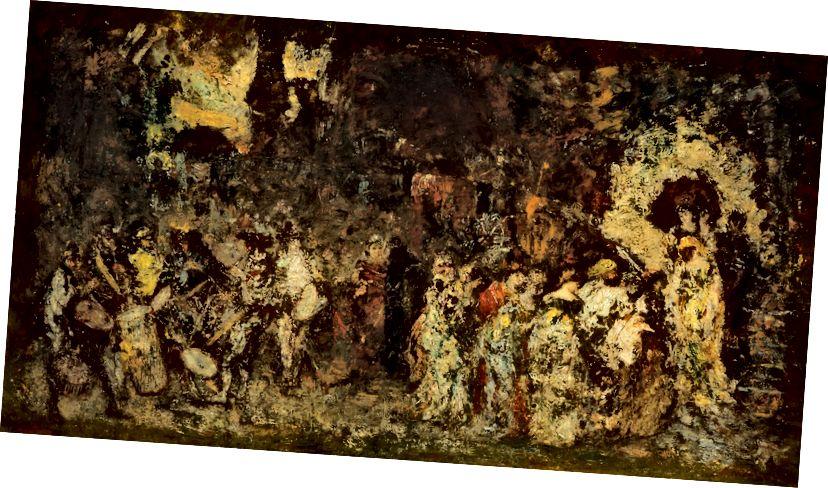 """""""Fete horší než smrt:"""" zahradní fete (Adolphe Monticelli, c. 1870–72), Skotské národní galerie."""
