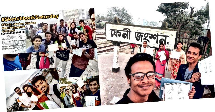 Sketchbook Samstag los in Chittagong, Khulna und Feni!