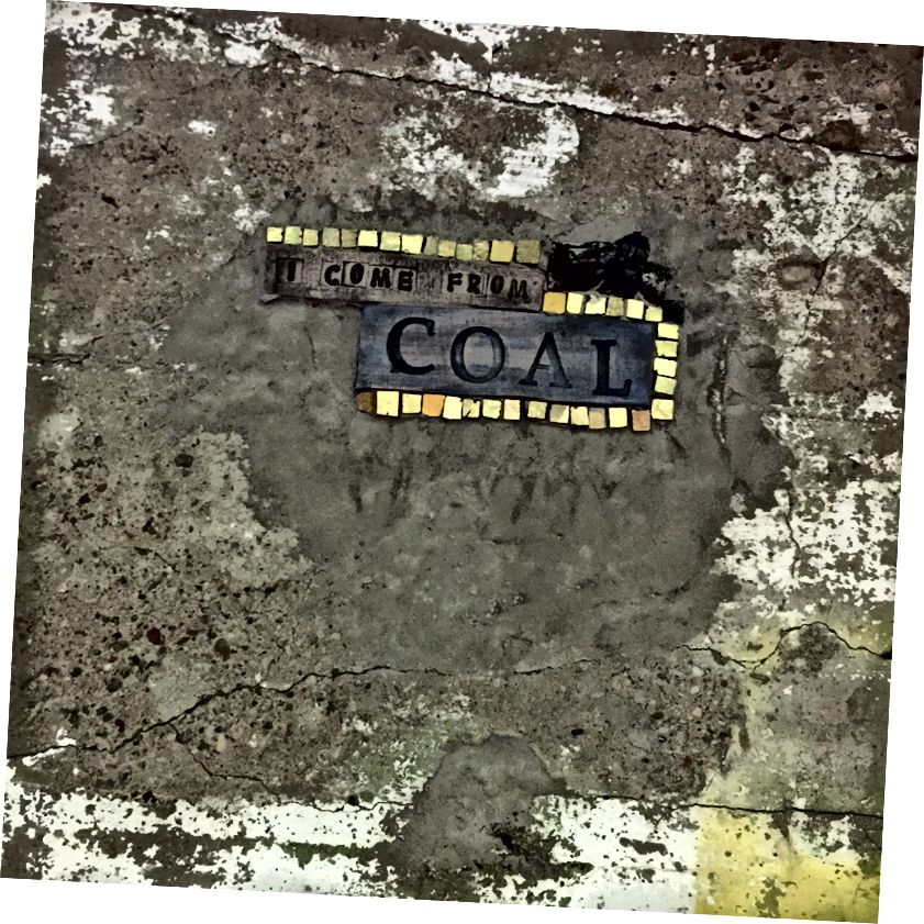 Անձնական մեկնաբանություն ավերակների ծրագրի պատին ՝ Ռեյչել Սագերի կողմից: