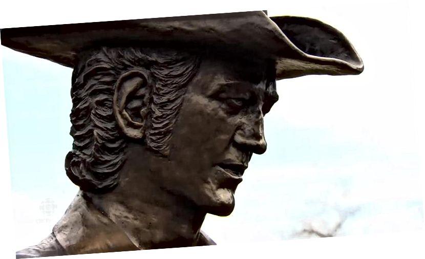 Statuja Stompin 'Tom. Foto nga Martha Dillman / CBC.
