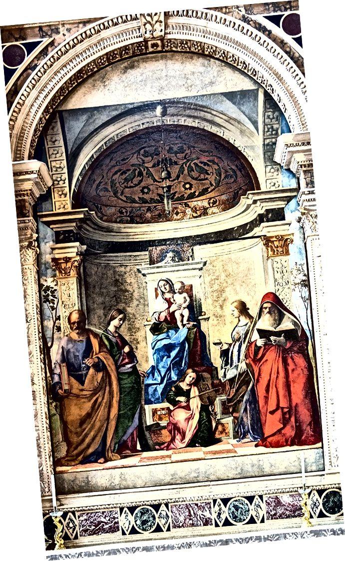 ジョヴァンニベリーニ(1430〜1516年頃)による「サンザッカリア祭壇画」(1505)。 ソースウィキアート
