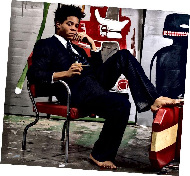 Jean-Michel Basquiat në kopertinën e Revistës The New York Times rreth vitit shkurt 1985.