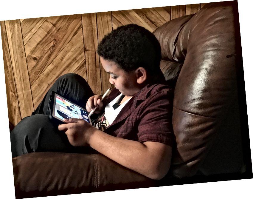 Braeden, mijn neef