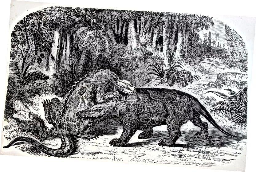 ルイフィギエ作「La Terre avant ledéluge」(1863年)より