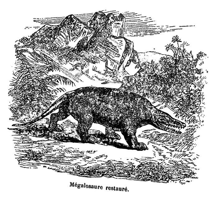 """Fra """"Les animaux d'autrefois"""" av Victor Meunier, 1869"""