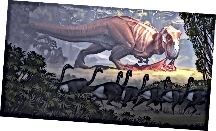 Tyrannosaurus autorstwa Simona Stalenhaga