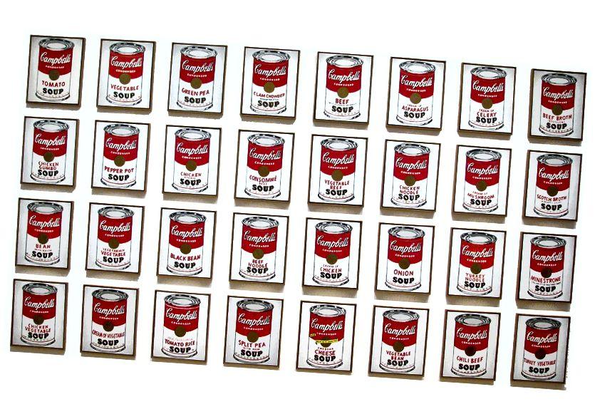 Andy Warhol - Llaunes de sopa de Campbell, 1962