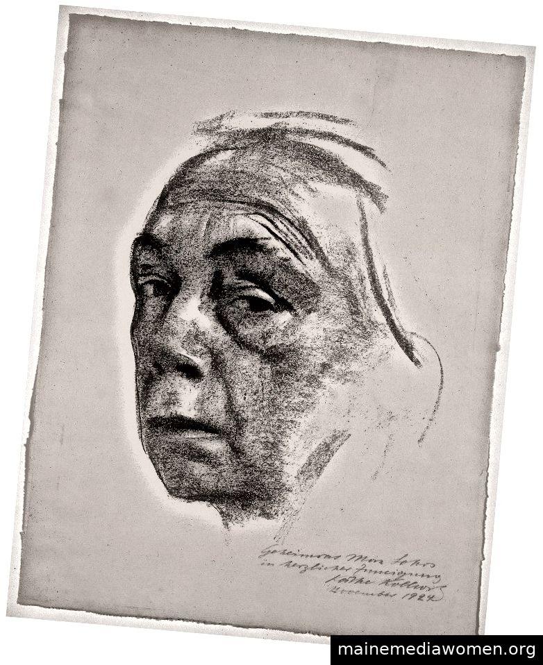 Käthe Kollwitz, Selbstporträt, 1924