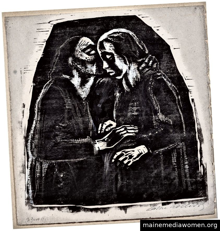 Käthe Kollwitz, Mary und Elizabeth, 1929