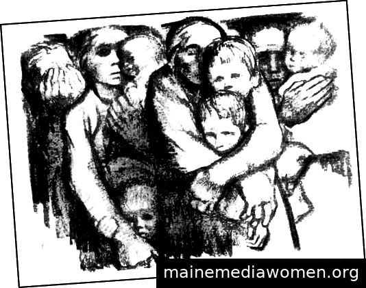 Käthe Kollwitz, Witwen und Waisen (1919)