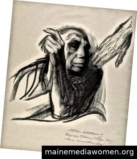 Käthe Kollwitz, Ruf des Todes, 1937