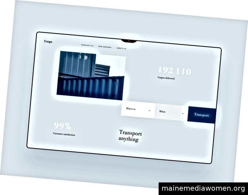 Website des Transportunternehmens von Oleh Kopyl