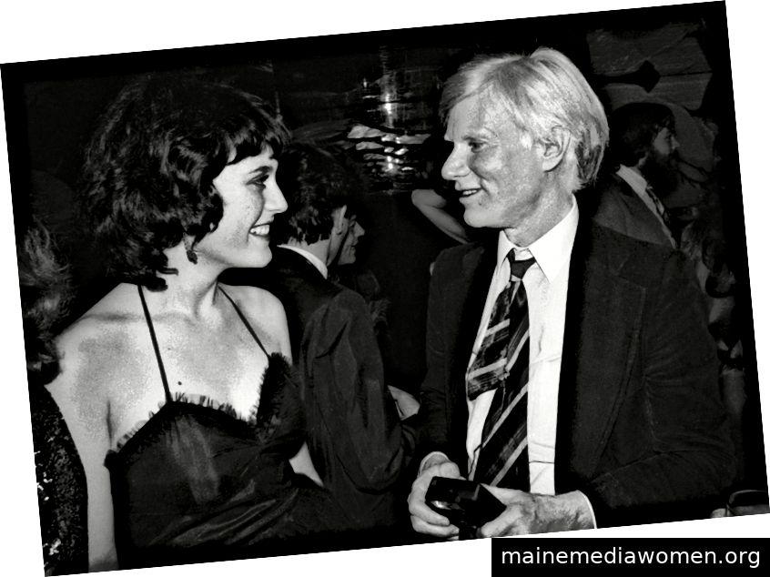 Natasha Fraser-Cavassoni (rechts) und Andy Warhol (links) bei Regine Bildnachweis: Mit freundlicher Genehmigung von Natasha Fraser-Cavassoni