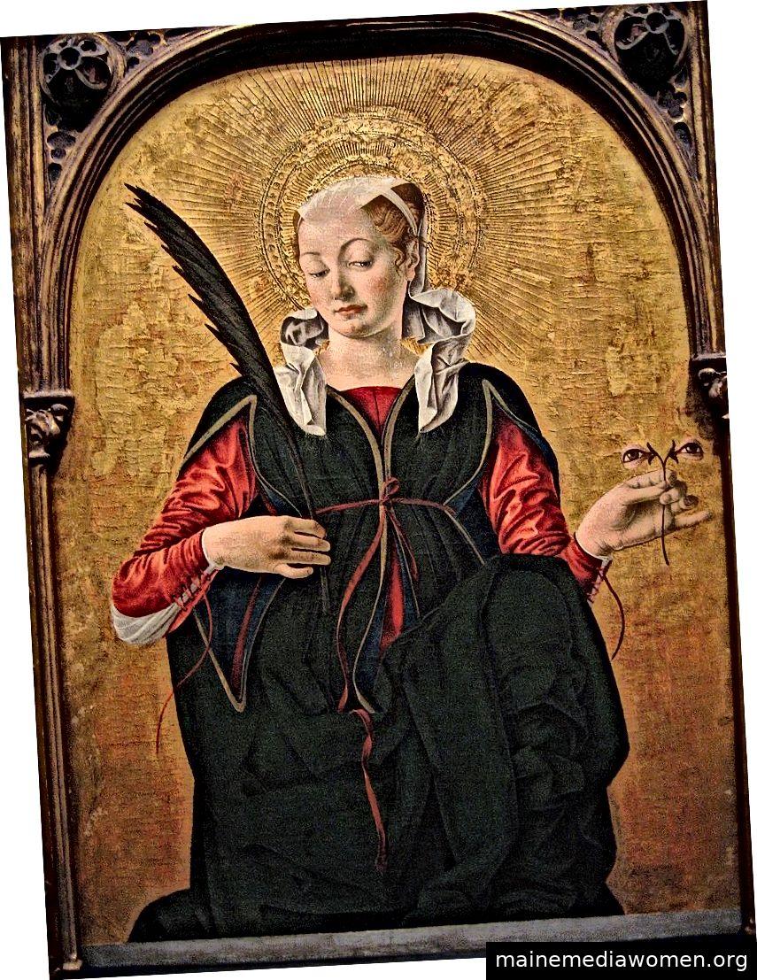 Saint Lucy von Francesco del Cossa (ca. 1430 - ca. 1477). Quelle Wikimedia Commons