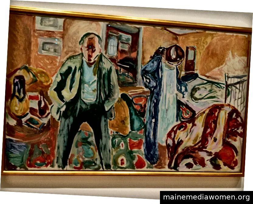 Im Raum mit allen anderen Gemälden von Künstlern und Modellen