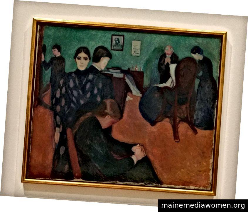 Szene von Munchs Familie als Krankheit trifft