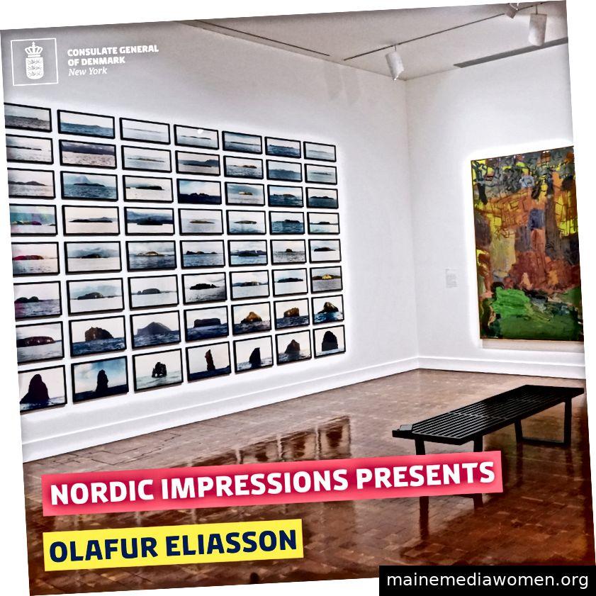Olafur Eliasson gehört zu den dänischen Künstlern, die bei Nordic Impressions im Scandinavia House ausgestellt wurden. Die Ausstellung wird mit dem Digital Dynamics-Buchstart eröffnet.