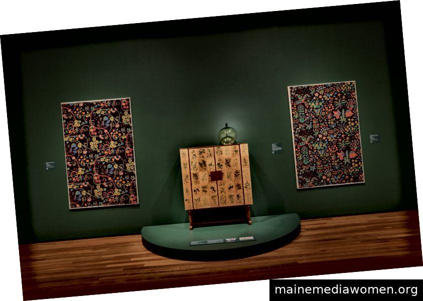 Farbe und Komfort: Modernes schwedisches Installationsbild, freundlicherweise zur Verfügung gestellt von David Brichford für das Cleveland Museum of Art.