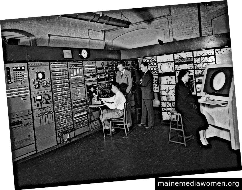 Computerpionier Jay Forrester und Mitarbeiter bei Whirlwind.