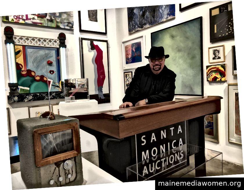 Besitzer Robert Berman, bereit für die große Auktion