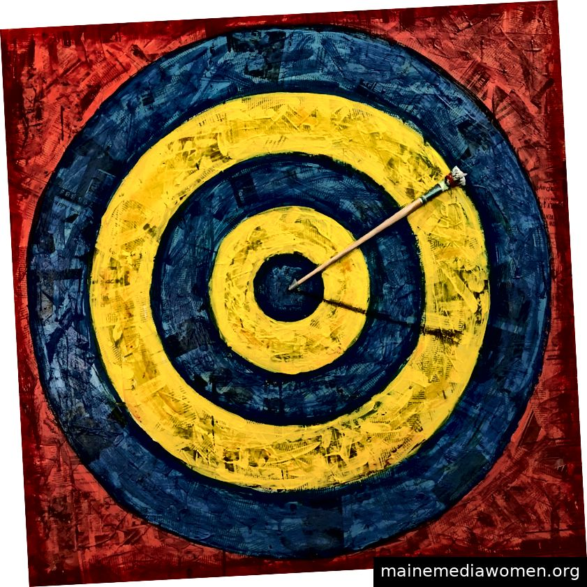 GREGG GIBBS, Target Practice, 2018; Mischtechnik Bild: 30 x 30 Zoll; Schätzung: 2.000 $ / 3.000 $