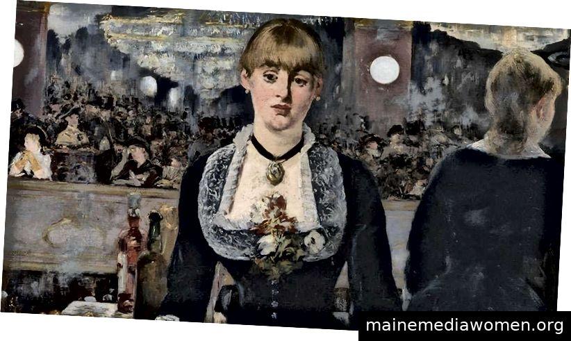 Édouard Manet. Eine Bar im Folies-Bergère. 1882. Öl auf Leinwand. 96 x 130 cm. Bild mit freundlicher Genehmigung von DNA und Fondation Louis Vuitton.