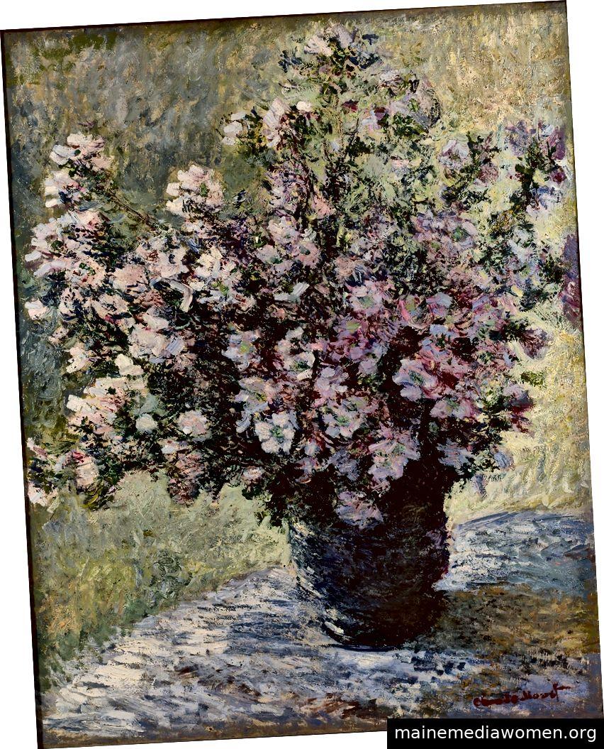 Claude Monet. Vase mit Blumen. 1881. Öl auf Leinwand. 121,7 x 102,7 cm. Bild mit freundlicher Genehmigung von DNA und Fondation Louis Vuitton.