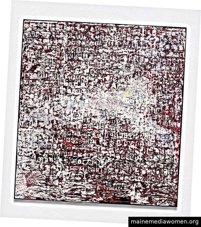 Mark Bradford. Verfassung IV. 2013. Mischtechnik auf Leinwand. 335,3 x 304,8 cm. Bild mit freundlicher Genehmigung von DNA und Fondation Louis Vuitton.