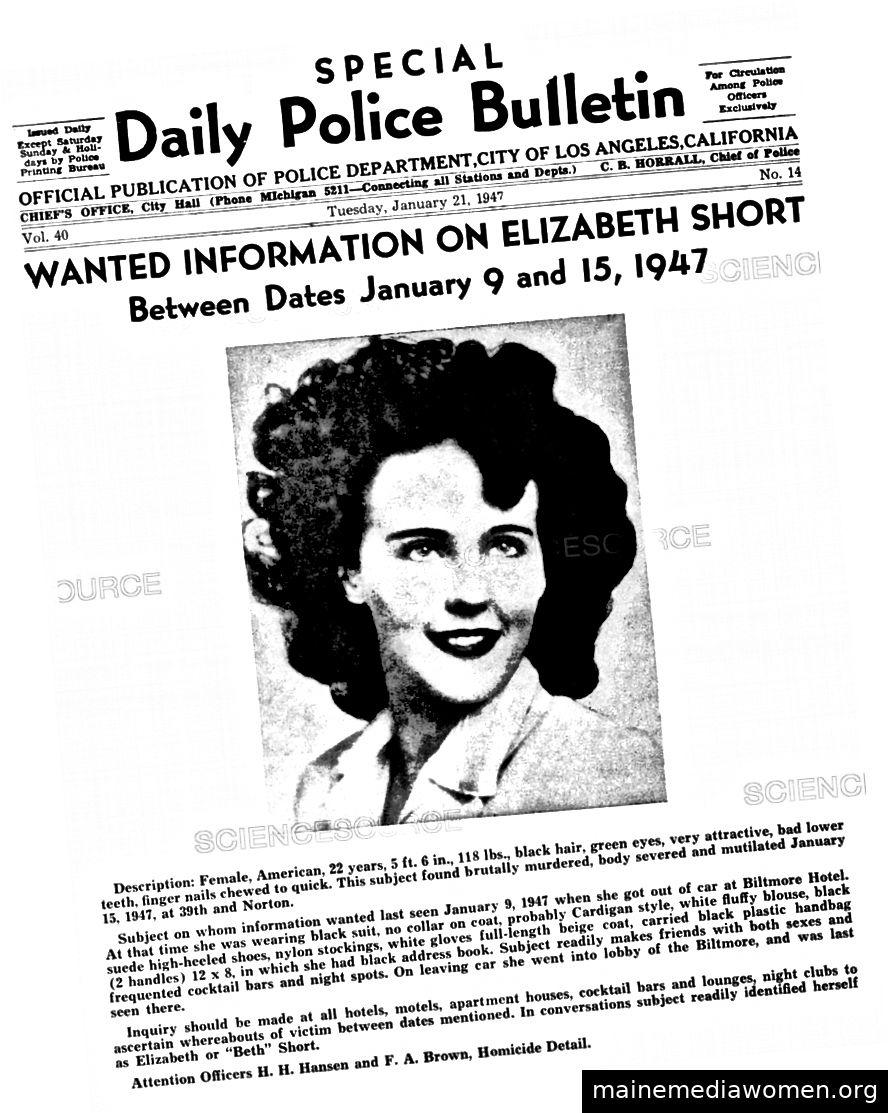 21. Januar 1947 Das FBI Bulletin sucht nach Informationen und Hinweisen.