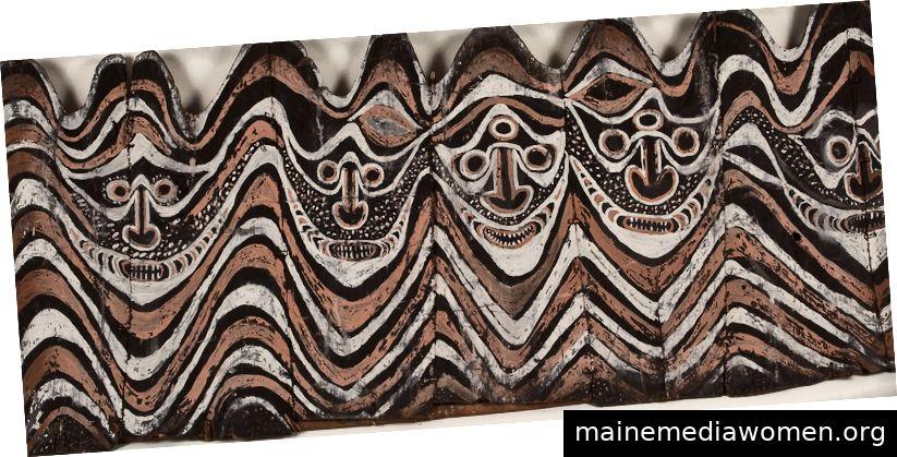Umhang: Ngati Whakaue Maori, Distrikt Rotorua, Aotearoa. Vor 1883. Harakeke, Wolle, Federn, Doppelzwirn-Schussfaden, Taniko-Schussfaden. Peruanischer Stoff mit vier Kanten: Alte Fäden / Neue Richtungen. Erstellt von Jim Bassler '62, M.A. 68.