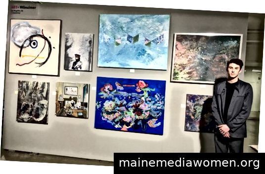 Aidan Nelson, mit Arbeiten von der Korea Town Galerie Wonzimer; Foto von Kathy Leonardo