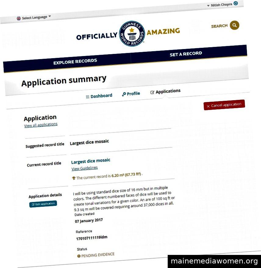 Antragsgenehmigung durch die Guinness-Behörden