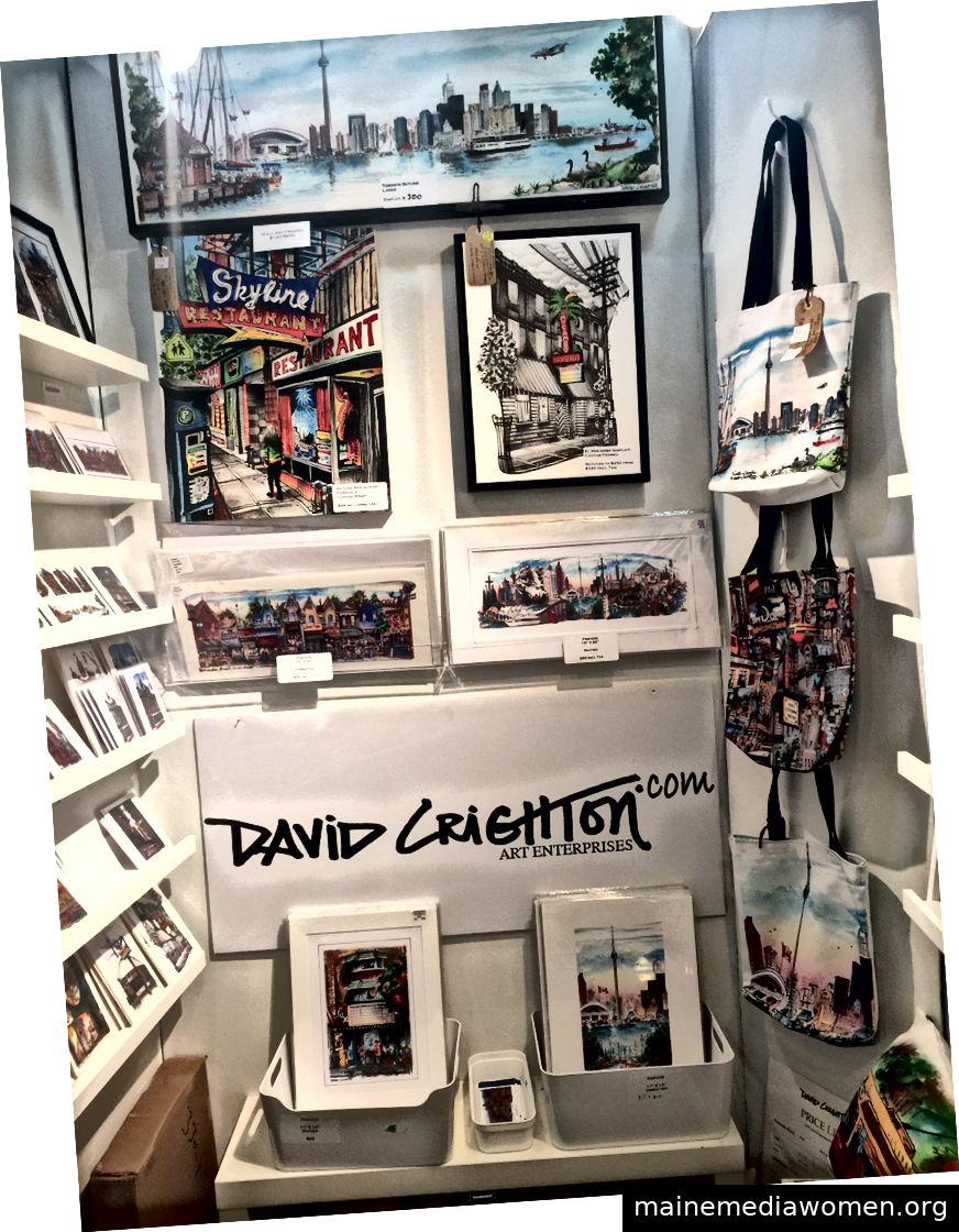 David Crighton Booth im Leslieville Arts Market