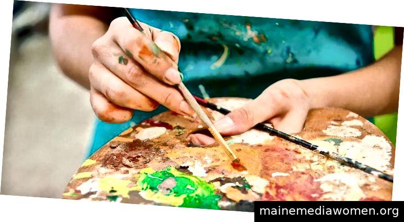 Wie man Stress durch Kunstaktivitäten reduziert