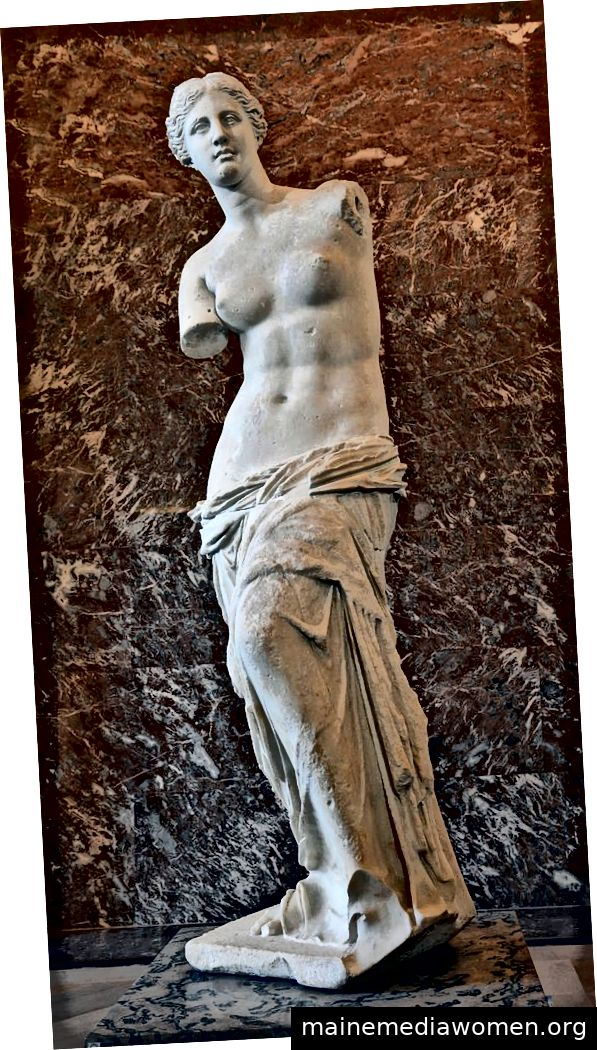 David von Michelangelo, Die Parthenonmurmeln, Venus von Milo