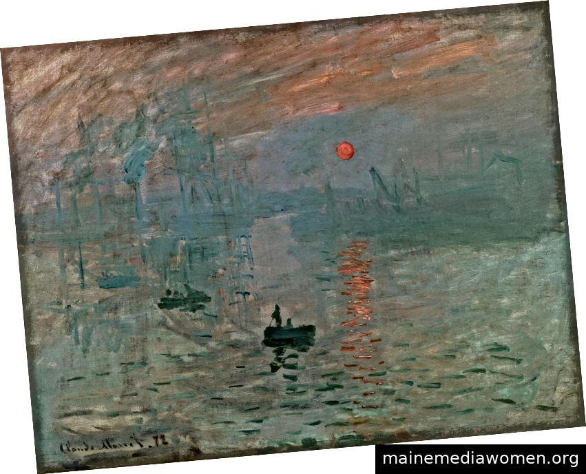 Impression, Sunrise, 1872, Claude Monet, Public Domain