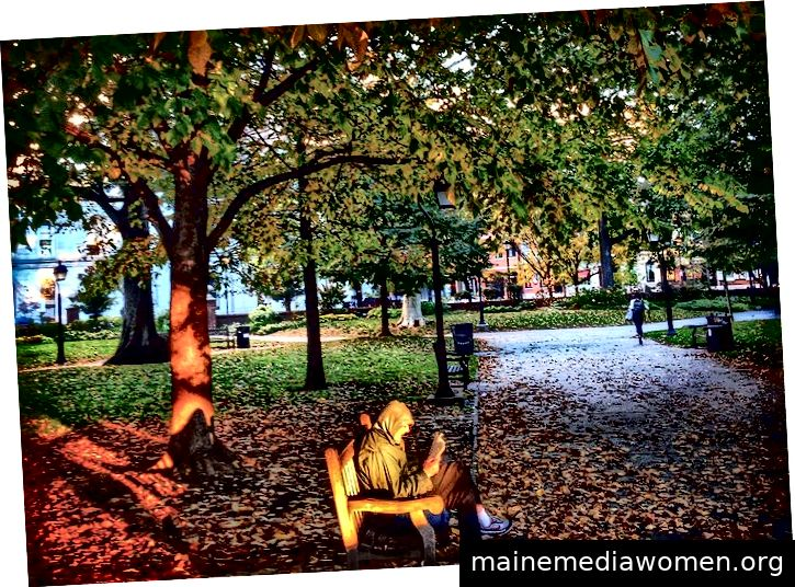 Washington Square Bench von Glen DiPaola