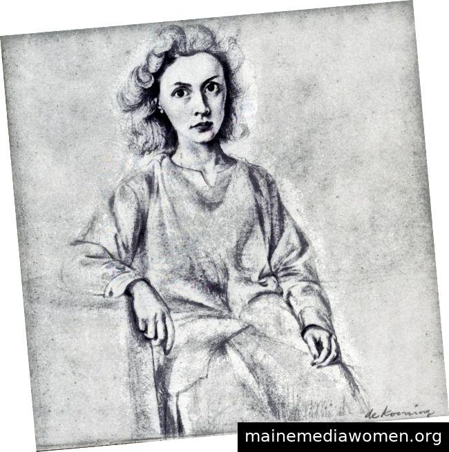 Willem de Kooning, Bleistiftzeichnung von Elaine De Kooning, 1940