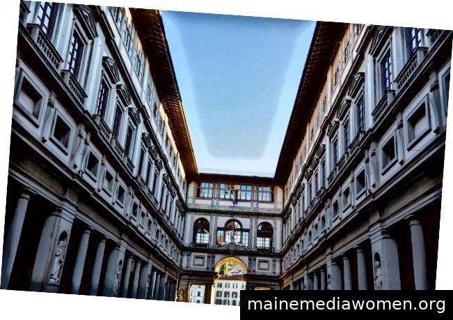 Galleria degli Uffizi, zur Verfügung gestellt von italymagazine.com