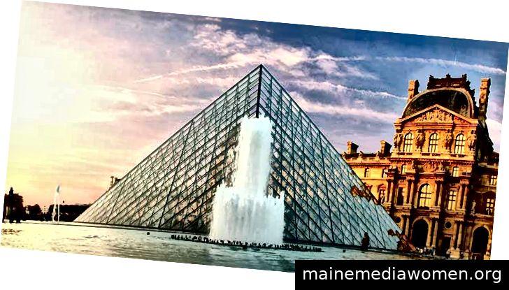 """""""Die Pyramide des Louvre, Paris, Frankreich"""" von Grufnik ist unter CC BY-NC-ND 2.0 lizenziert"""