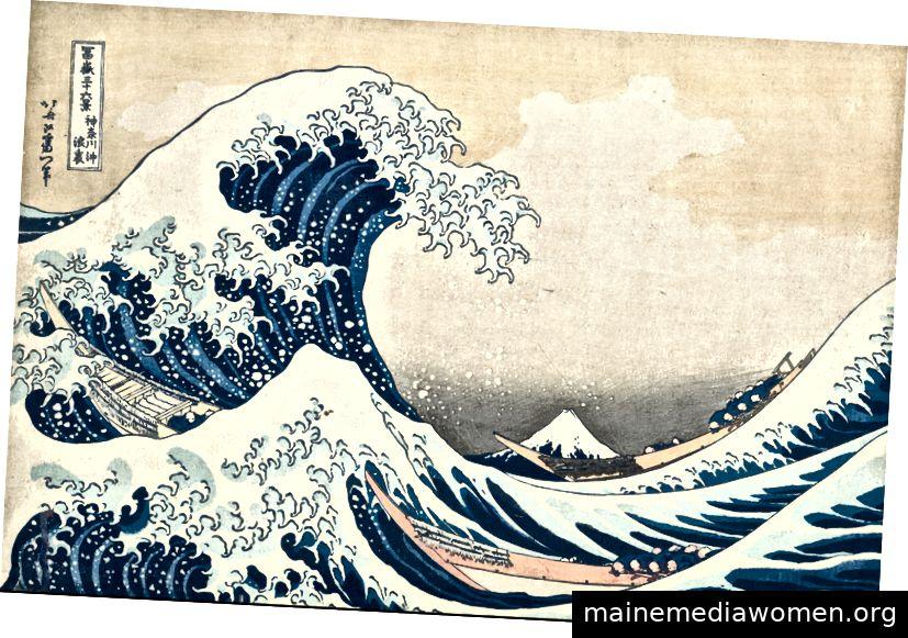 Die große Welle von Katsushika Hokusai