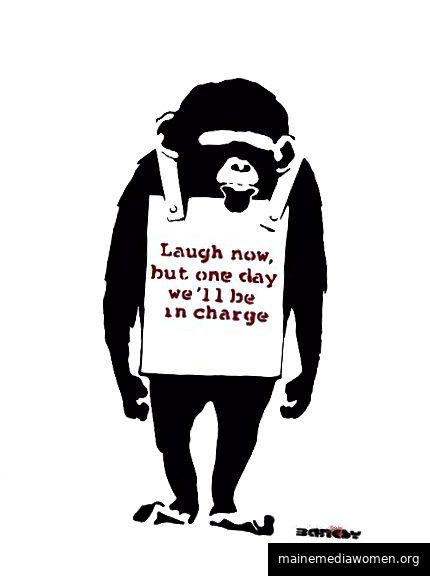 Signiertes Kunststück von Banksy