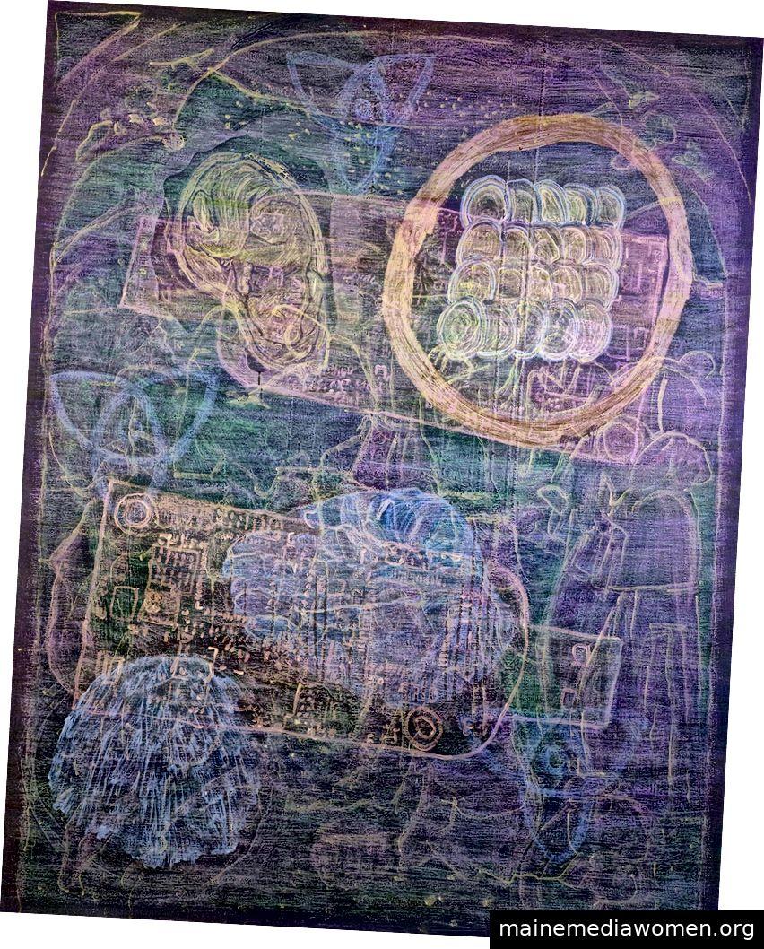 Titel: WALKAWAY 2/4, Materialien: Acryl auf Leinwand, Größe: 110 x 140 cm, № 44032019