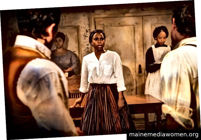 Naomi Lorraine als Philomena, in Charly Evon Simpson's Behind the Sheet bis 10. März im Ensemble Studio Theater