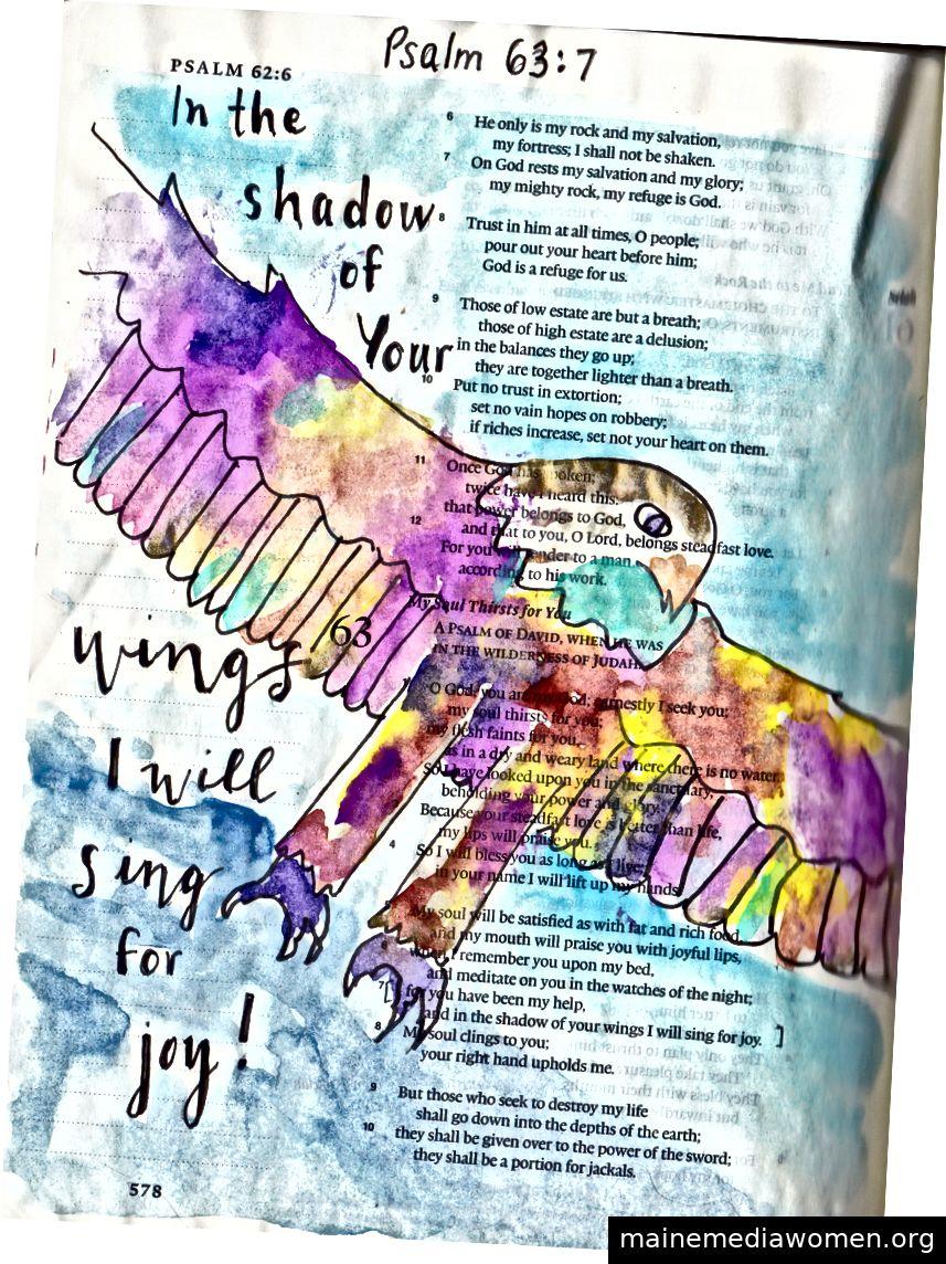 Bibelkunst von Janis Cox. Schauen Sie sich meinen Link im Profil für einen kostenlosen Bible Art-Kurs an.