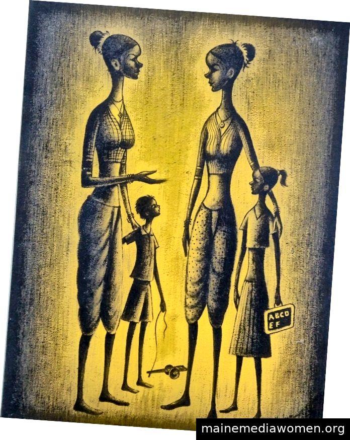 Village Women von Madhukar Mahajan