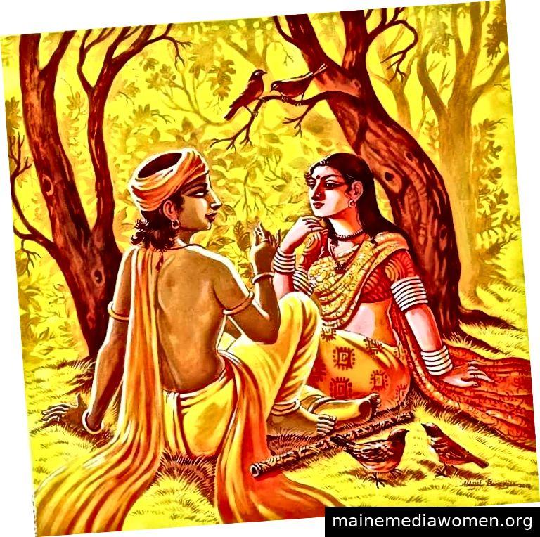 Radha und Krishna von Abhijit Banerjee