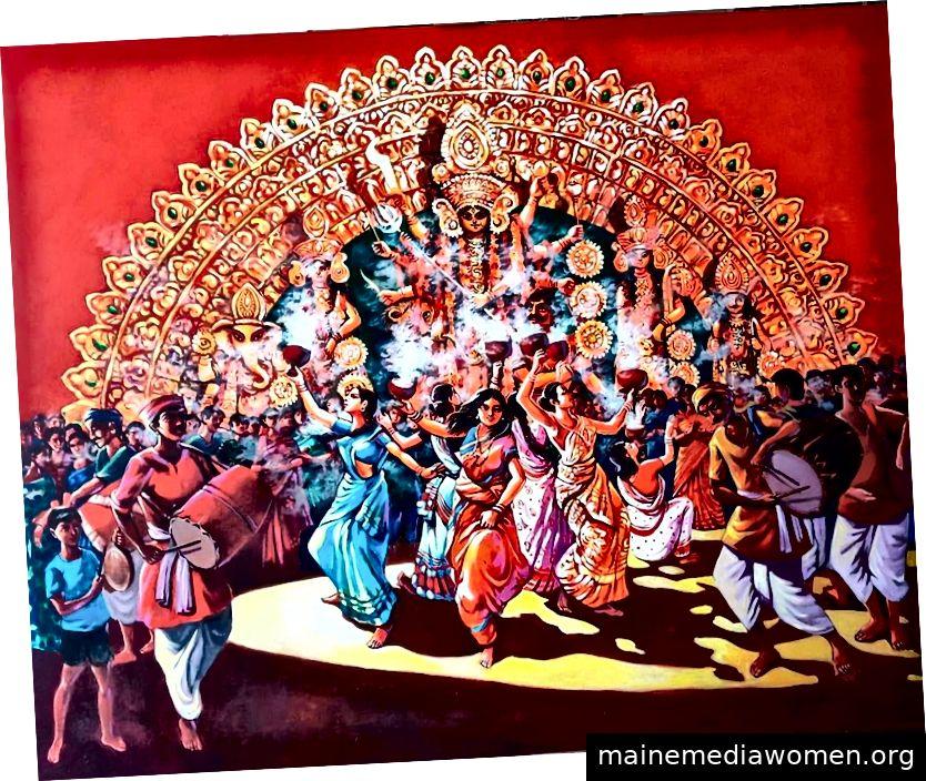 Dhunuchi-Tanz durch Abhijit Banerjee